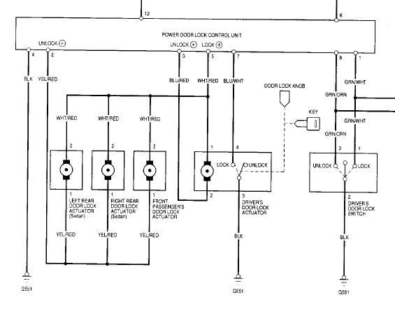 5 Wire Car Door Lock Actuator Wiring Diagram from www.ozhonda.com